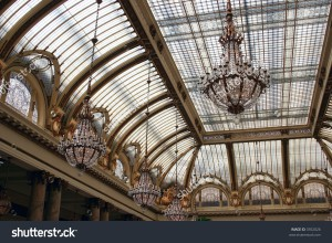 stock-photo-beautiful-art-nouveau-glass-ceiling-with-glass-chandeliers-3352026