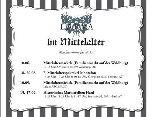 Larva im Mittelalter – Markttermine (aktualisiert)