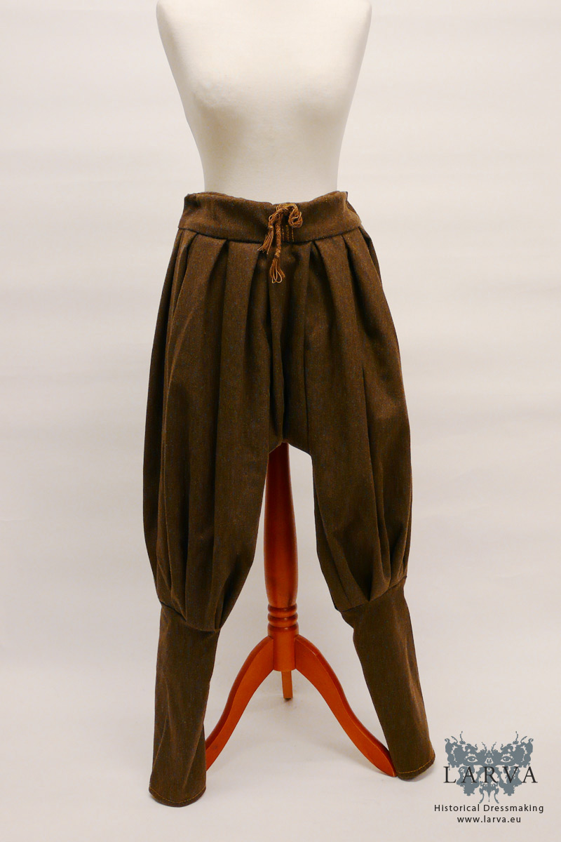 Early Medieval Rus/Viking Wool Trousers (brown)