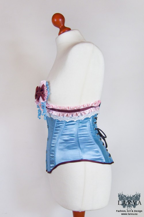 [:de]Blaues Teezeit-Korsett[:en]Blue teatime corset
